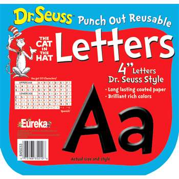 Shop Dr Seuss Punch Out Deco Letters Blk - Eu-845033 By Eureka