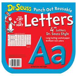 Shop Dr Seuss Punch Out Deco Letters Blu - Eu-845034 By Eureka