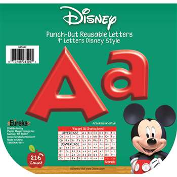 Shop Mickey Mouse Clubhouse Red Deco Letters - Eu-845049 By Eureka