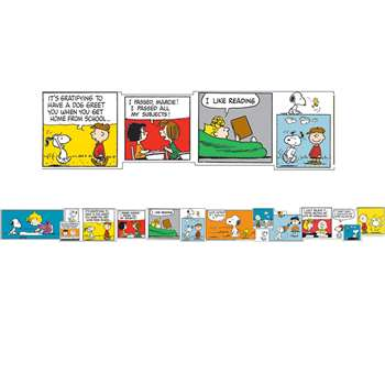 Peanuts Comic Blocks Extra Wide Deco Trim By Eureka