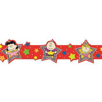 Peanuts Super Star Extra Wide Deco Trim By Eureka