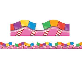 Candy Land Dimensional Look Extra Wide Die Cut Deco Trim By Eureka