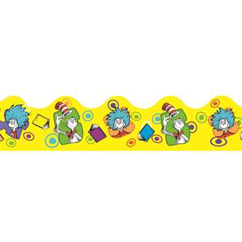 Shop Dr Seuss Yellow Extra Wide Die Cut Deco Trim - Eu-845242 By Eureka