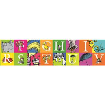 Shop Dr Seuss Abc Extra Wide Die Cut Deco Trim - Eu-845243 By Eureka
