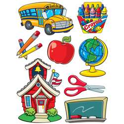 More School Supplies 12X17 Window Clings By Eureka