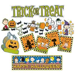 Peanuts Halloween Mini Bulletin Board Set By Eureka