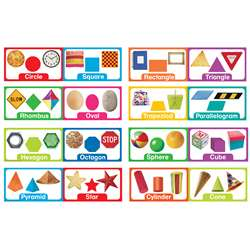 Shapes & Solids Mini Bulletin Board Set By Eureka