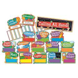 Hands On Management Job Chart Mini Bulletin Board Set By Eureka