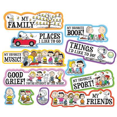 Peanuts Star Of The Week Mini Bulletin Board Set By Eureka