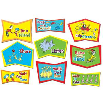 Dr. Suess Classroom Rules Bulletin Board Set By Eureka