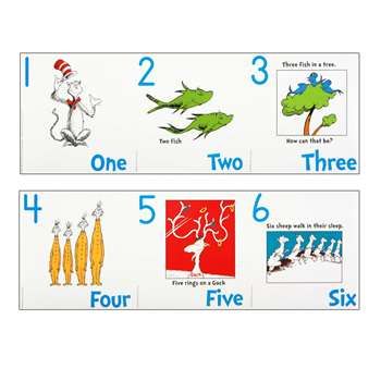 Dr Seuss Numbers 1-20 Bulletin Board Set By Eureka