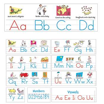 Dr Seuss Manuscript Alphabet Bulletin Board Set By Eureka