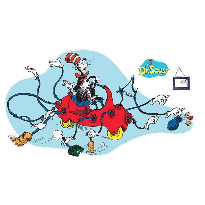 Dr Seuss Giant Cat In Car Bulletin Board Set By Eureka