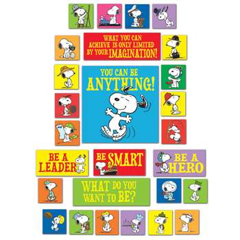 Peanuts You Can Be Anything Bulletin Board Set By Eureka