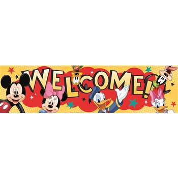 Shop Mickey Welcome Classroom Banner - Eu-849002 By Eureka