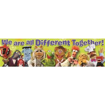 Shop Muppets All Different Classroom Banner - Eu-849003 By Eureka