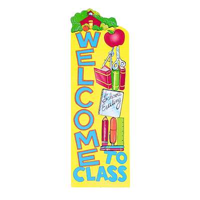 Banner Welcome To Class 12 X 45 Vertical By Eureka