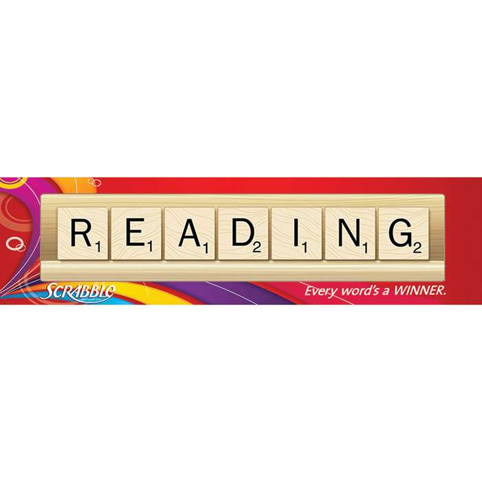 Scrabble Reading Classroom Banner By Eureka