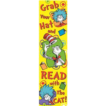Shop Dr Seuss Grab Your Hat Vertical Banner - Eu-849033 By Eureka