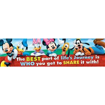 Mickey Friendship Classroom Banner, EU-849037