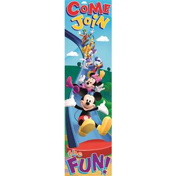 Shop Mickey Mouse Clubhouse Come Join The Fun Vertical Banner - Eu-849039 By Eureka