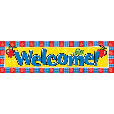 Banner Welcome Horizontal 45 X 12 By Eureka
