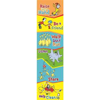 Seuss-Cat In The Hat Class Rules Banner Vertical By Eureka