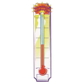 Banner Goal Setting Thermometer 45 X 12 Vertical By Eureka