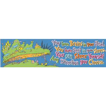 Seuss - Oh The Places You'Ll Go Banner Classroom By Eureka