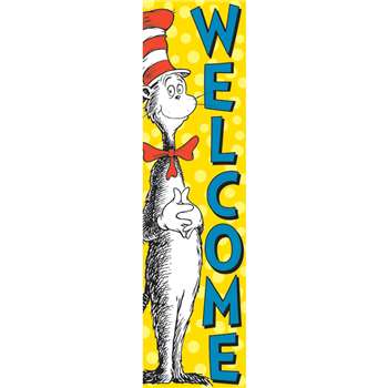 Vertical Banner Cat In The Hat Welcome By Eureka