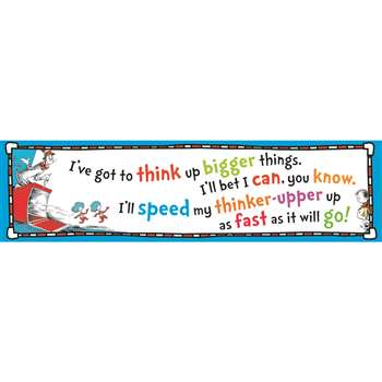 Cat In The Hat Think Up Bigger Things Banner 45X12 By Eureka