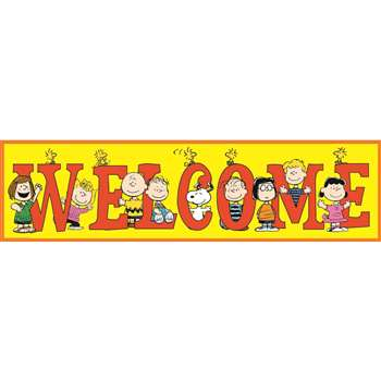 Peanuts Welcome Banner By Eureka