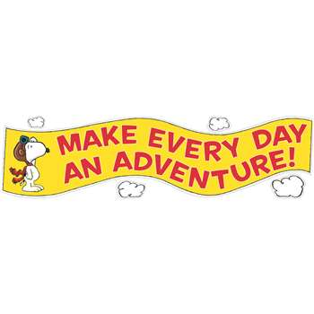 Peanuts Flying Ace Motivational Banner By Eureka
