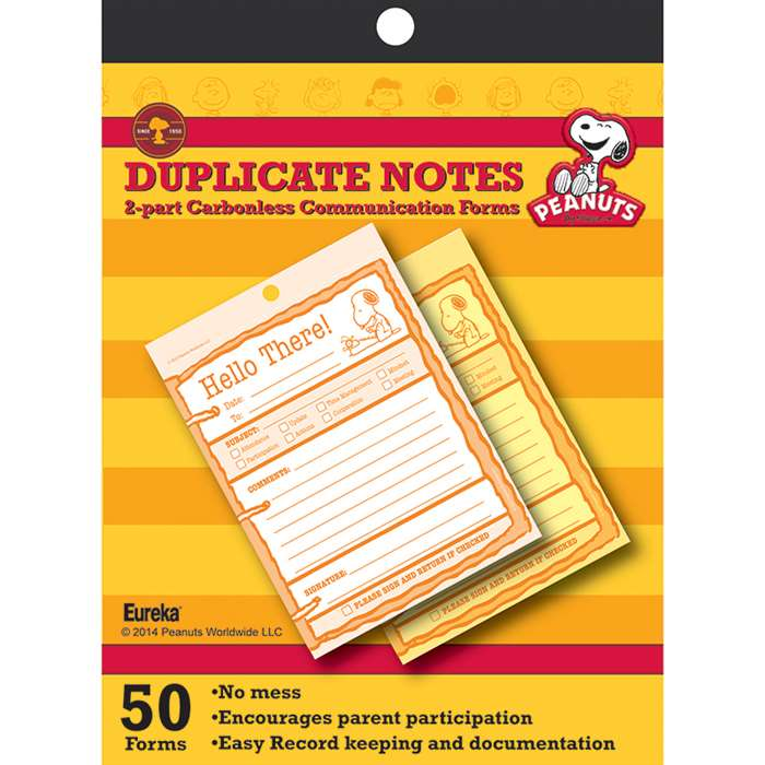 Peanuts Hello There Duplicate Notes, EU-863203