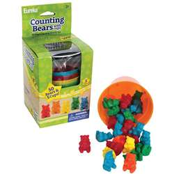 Counting Bear Cups 50 Ct Bears 5 Cups By Eureka