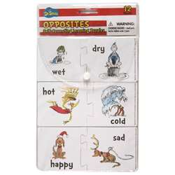 Shop Dr Seuss Opposites Self Correcting Puzzle Manipulatives - Eu-867421 By Eureka