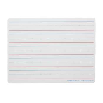 Magnetic Dry Erase Board 9 X 12 Red Blue Ruled By Flipside