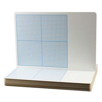 Flipside 12Pk Dry Erase Base Ten Grid Boards Class Pack By Flipside