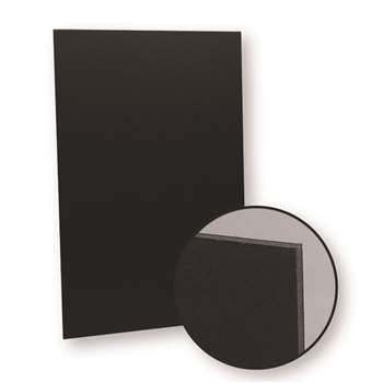 Black On Black 10Pk Foam Board 20X30 By Flipside