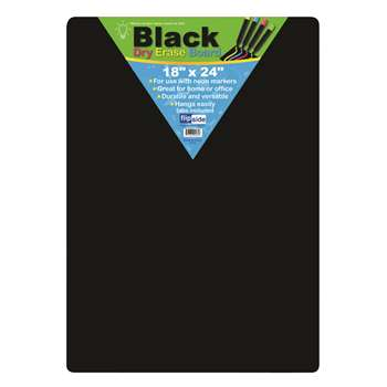 Black Dry Erase Boards 18 X 24 By Flipside