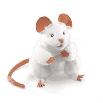 Puppets White Mouse By Folkmanis