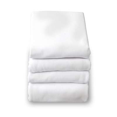 Safefit White Elastic Fitted Sheet Full Size By Foundations