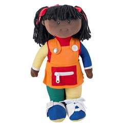 Learn To Dress Doll Black Girl By Childrens Factory