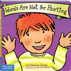 Best Behavior Words Are Not For Hurting By Free Spirit Publishing
