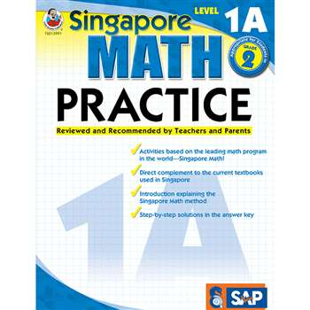 Math Practice Level 1A Gr 1-2 By Carson Dellosa