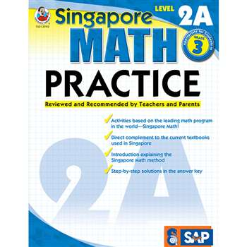 Math Practice Level 2A Gr 3 By Carson Dellosa