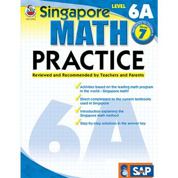Math Practice Level 6A Gr 7 By Carson Dellosa