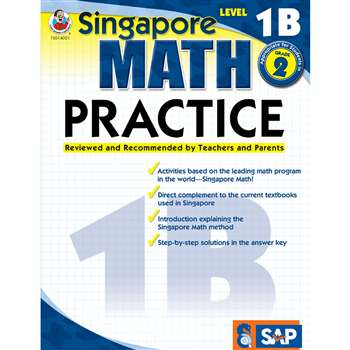 Math Practice Level 1B Gr 1-2 By Carson Dellosa