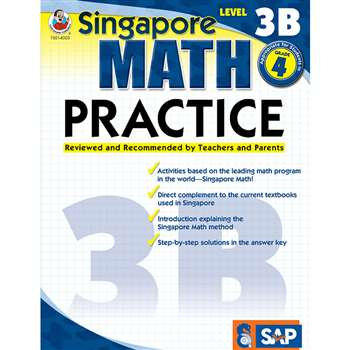 Math Practice Level 3B Gr 4 By Carson Dellosa
