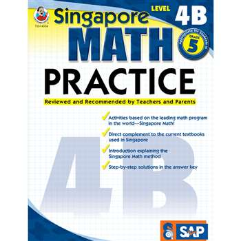 Math Practice Level 4B Gr 5 By Carson Dellosa